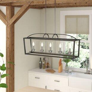 Laurel Foundry Modern Farmhouse Luna 5-Light Kitchen Island Pendant