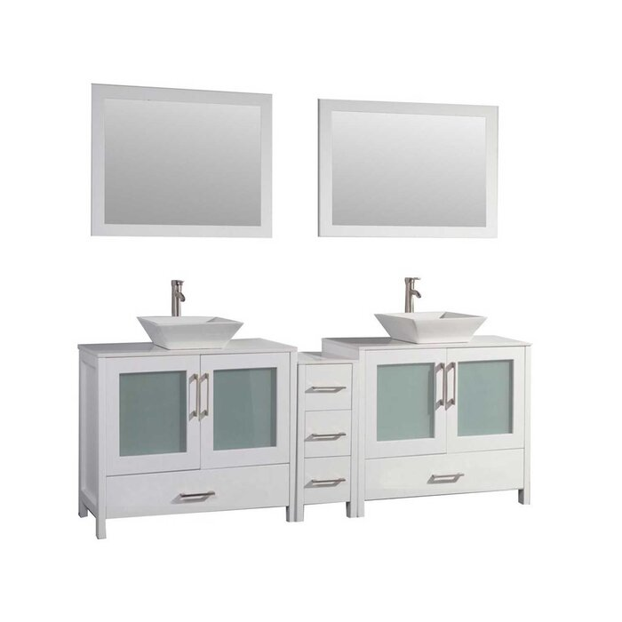 Phenomenal Powley 60 Double Sink Bathroom Vanity Set With Mirror Beutiful Home Inspiration Truamahrainfo