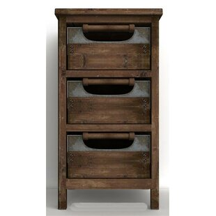 Gracie Oaks Calypso Rustic 3 Drawer Accent Chest