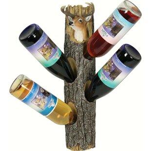 Shawnee Deer 4 Wall Mounted Wine Bottle R..