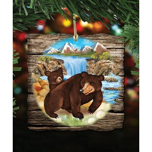 bear cabin shaped ornament