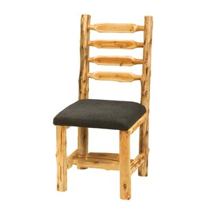 Traditional Cedar Log Upholstered Side Chair Fireside Lodge