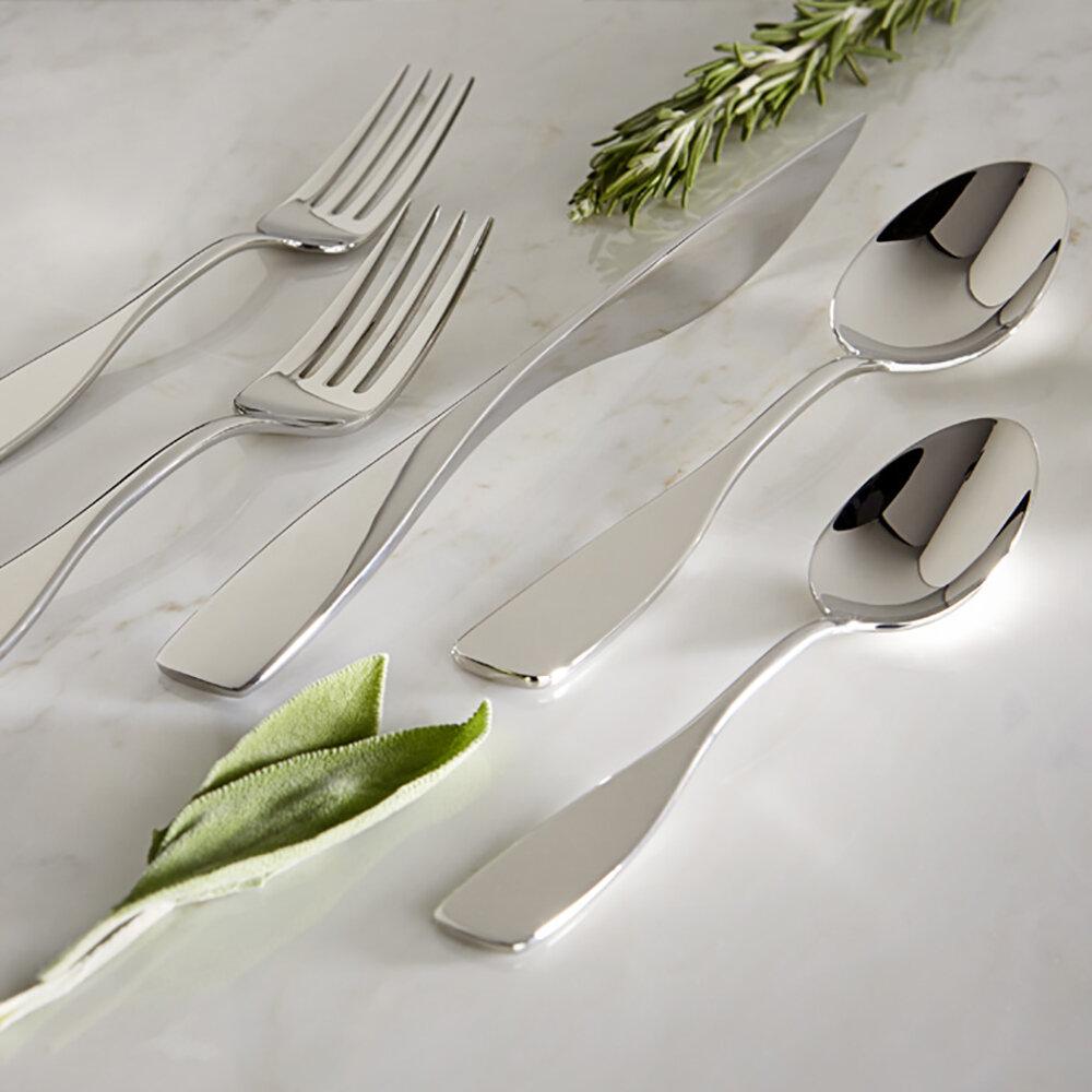Gourmet Settings Goddess 20 Piece 18 10 Stainless Steel Flatware Set Service For 4 Reviews Wayfair