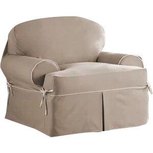 Twill T-Cushion Armchair Slipcover
