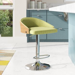 Collett Adjustable Height Bar Stool Brayden Studio