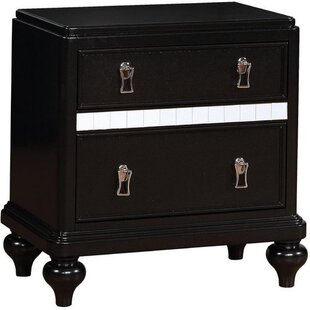 Astoria Grand Greeley 2 Drawer Nightstand