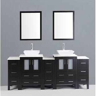 Netto 84 Double Bathroom Vanity Set with Mirror by Ebern Designs