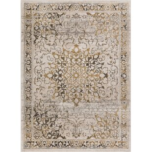 Abramowitz Beige/Gray Area Rug by Charlton Home