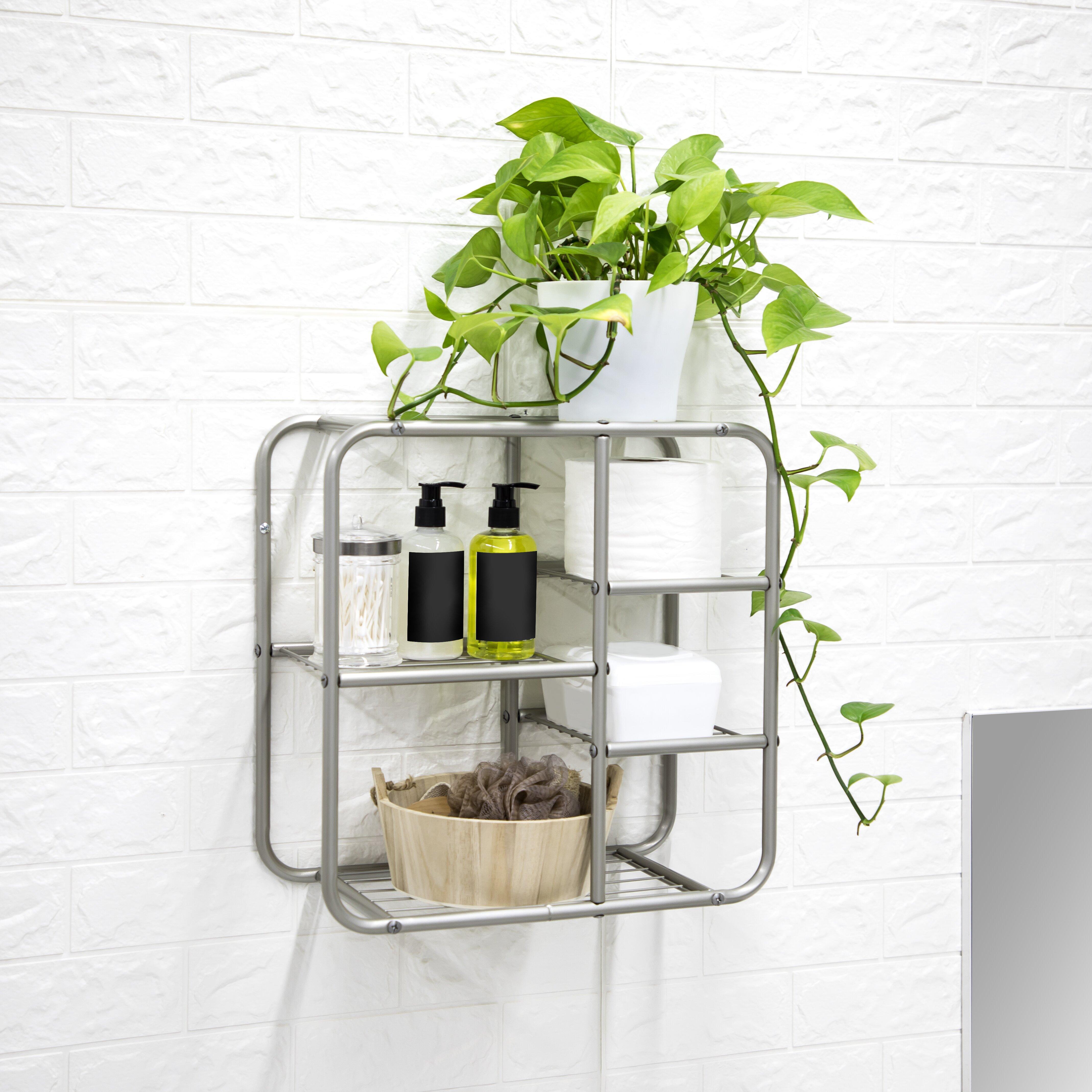 Rebrilliant Skiba 8 W X 16 14 H X 6 14 D Wall Mounted Bathroom Shelves Reviews Wayfair