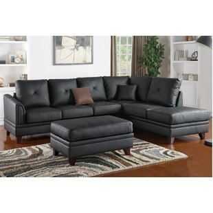 Ulen Leather Reversible Sectional