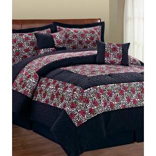 Kasia Leopard Flower 6 Piece Comforter Set