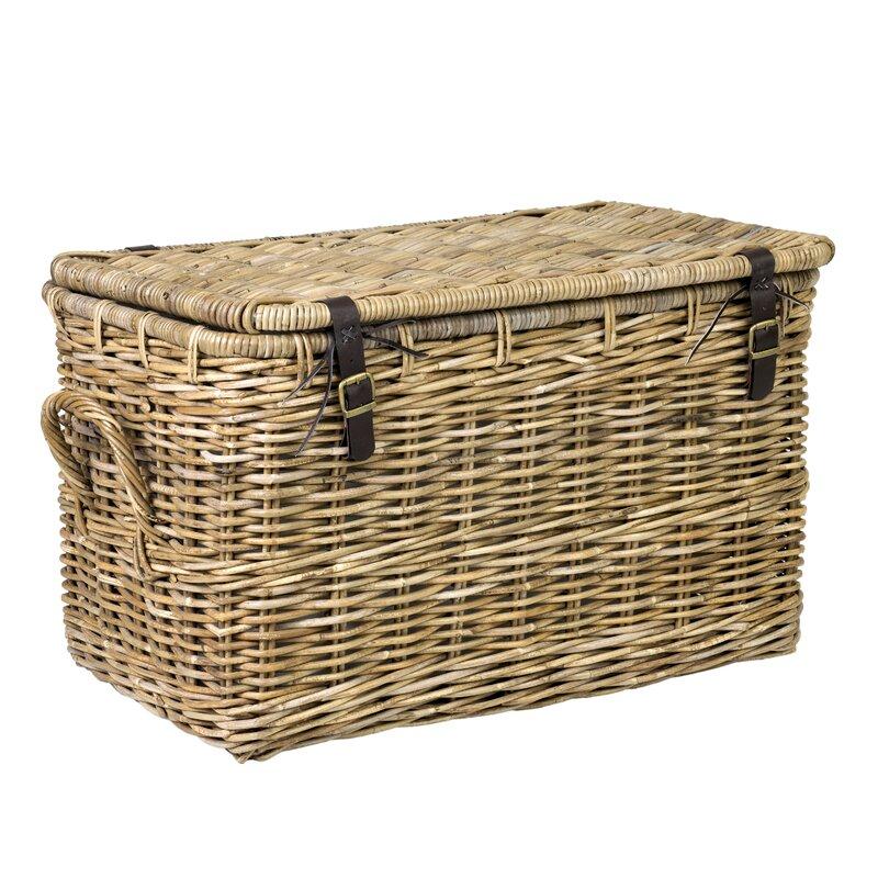 Daniels Rattan Lidded Basket