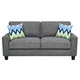 Astoria Microfiber 78 Square Arm Sofa by Serta at Home