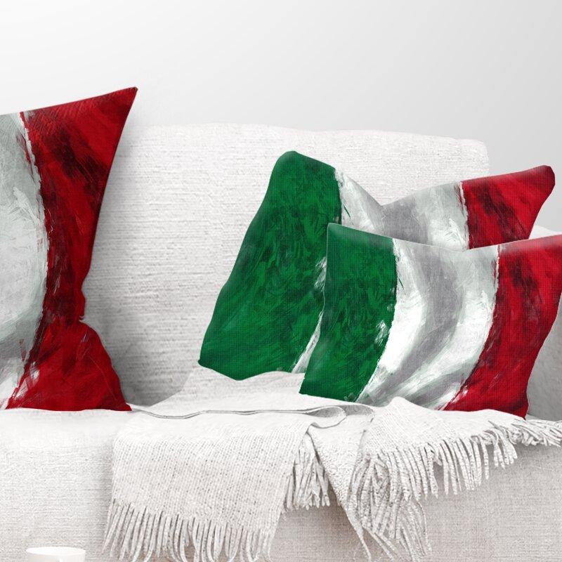 East Urban Home Italy Flag Lumbar Pillow Wayfair Ca