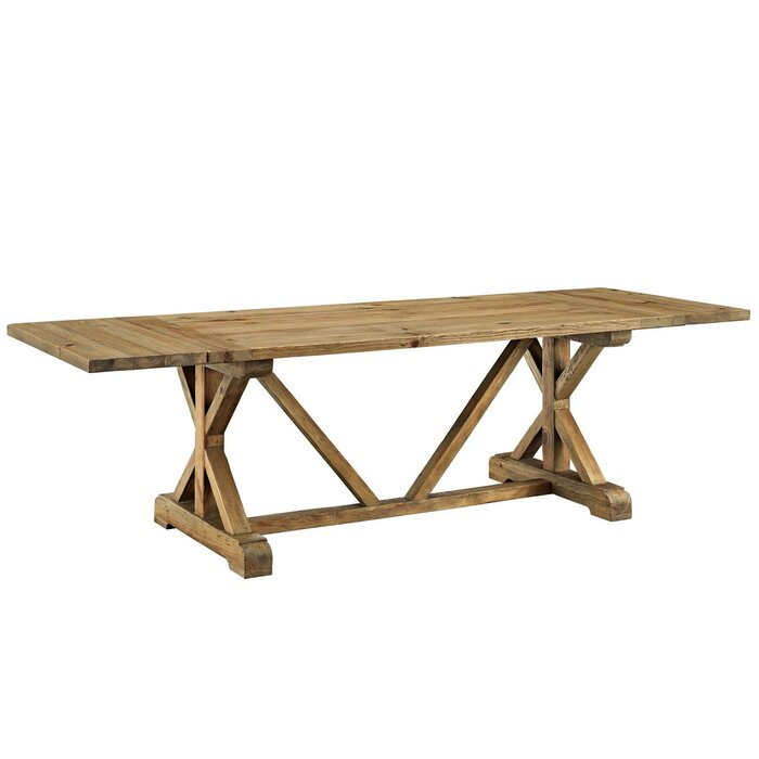 Astonishing Camden Den Extendable Solid Wood Dining Table Machost Co Dining Chair Design Ideas Machostcouk
