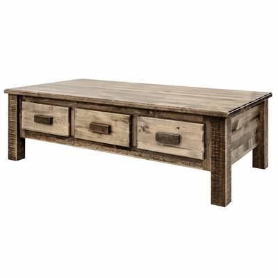 Loon Peak Citronelle Solid Wood Coffee Table With Storage Wayfair
