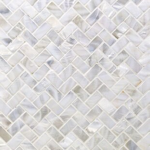 Pacif Random Sized Gl Pearl Shell Mosaic Tile In Polished White