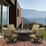 Carwile 5 Piece Sunbrella Dining Set with Cushions