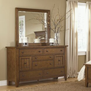 Warleigh 8 Drawer Combo Dresser with Mirror