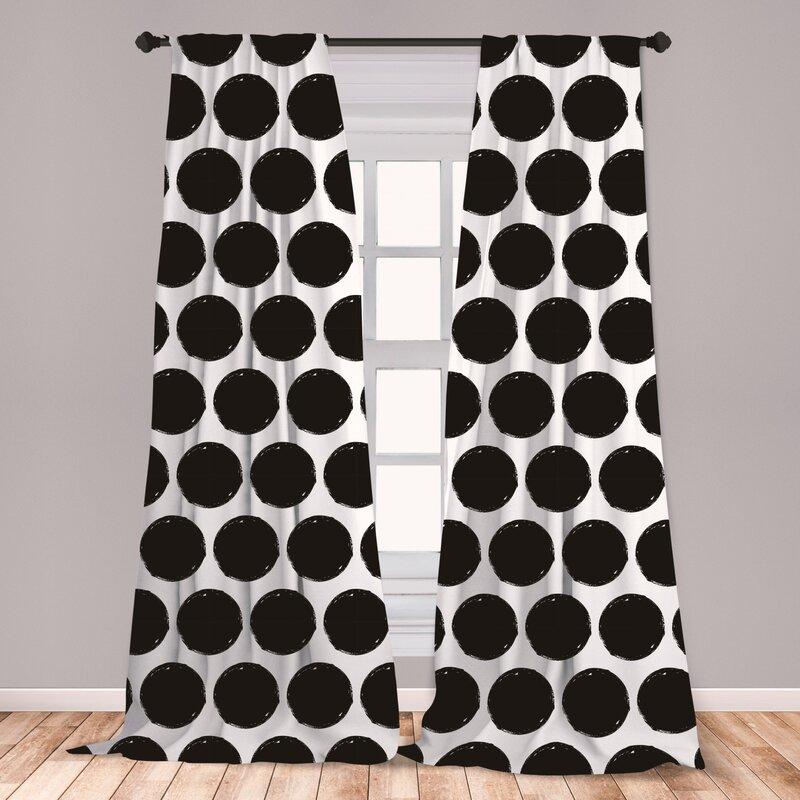 East Urban Home Flagler Polka Dots Room Darkening Rod Pocket Curtain Panels Reviews Wayfair