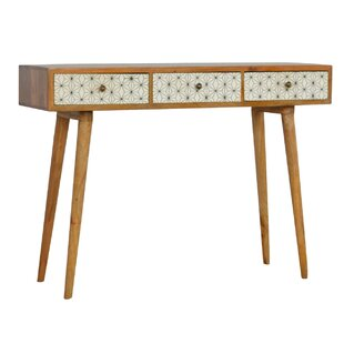 Ramitas 3 Drawer Solid Wood Console Table By George Oliver