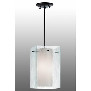 Quadrato Mist 1-Light Square/Rectangle Pendant by Meyda Tiffany