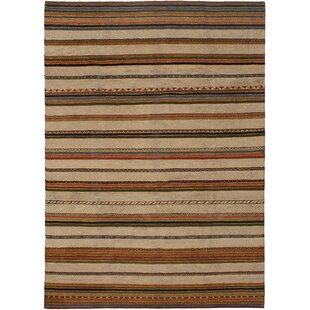 Reviews One-of-a-Kind Kallas Hand-Knotted 7'10 x 11' Wool Copper/Tan Area Rug By Isabelline