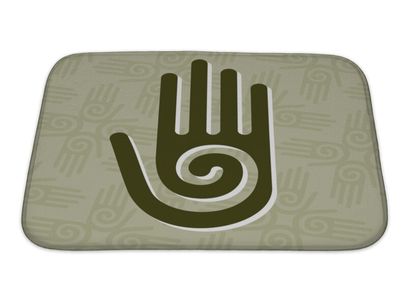 Gear New Human Touch Hand With A Spiral Symbol On The Palm Bath Rug