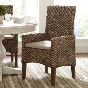 Heliodoro Woven Seagrass Arm Chairs Set Of 2