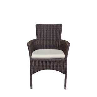 Penn Stacking Patio Dining Chair with Cushion