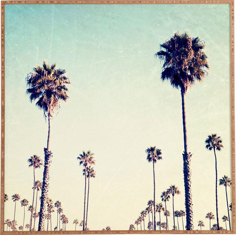 Palm Tree Wall Art california palm trees framed wall art & reviews | joss & main
