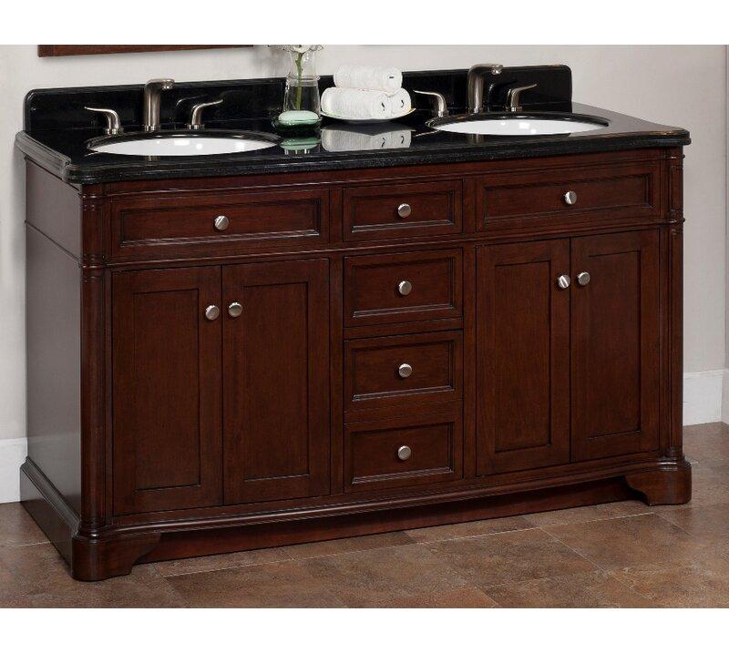 lanza chester 60 double bathroom vanity set reviews wayfair rh wayfair com