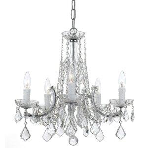 Claughaun 5-Light Crystal Chandelier