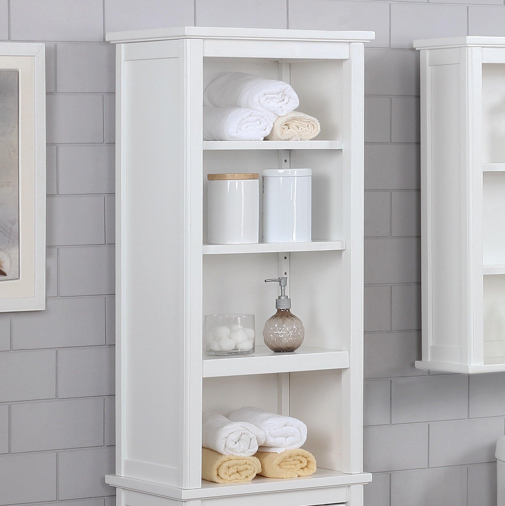 Highland Dunes Carruthers 17 W X 36 H X 13 D Free Standing Bathroom Shelves Reviews Wayfair