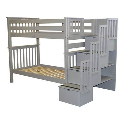 Harriet Bee Bridlington Stairway Twin Over Twin Bunk Bed Wayfair