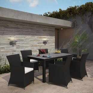 Modway Junction 7 Piece Outdoor Patio Dining Set with Cushion