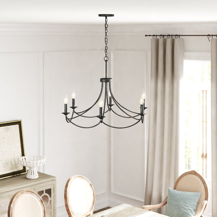 Emmaline 6 - Light Candle Style Classic / Traditional Chandelier