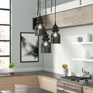 Dougan 3-Light Cluster Pendant by Wrought Studio