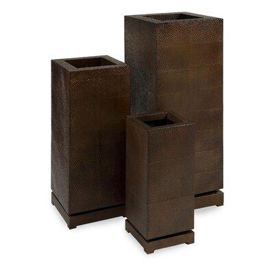 Macauley Tall 3-Piece Iron Pot Planter Set Bayou Breeze