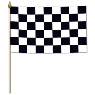Pattern Pop Personalized Toddler Size Checkered Racing Flags Pillowcase with Pillow Included