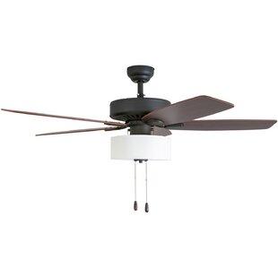 Art deco ceiling fan wayfair 52 harkers 5 blade led ceiling fan aloadofball Images