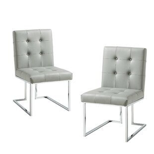 Bellamy Chrome Side Chair (Set of 2)
