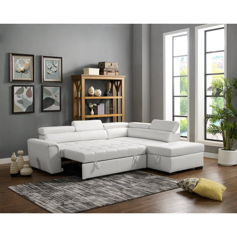 Fine Menomonie Right Hand Facing Sleeper Sectional With Ottoman Andrewgaddart Wooden Chair Designs For Living Room Andrewgaddartcom