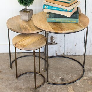 Briarwood Iron Accent 3 Piece Nesting Tables by Union Rustic