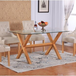 Excellent Lemp Tempered Glass Top Dining Table With Glass Dining Room Table