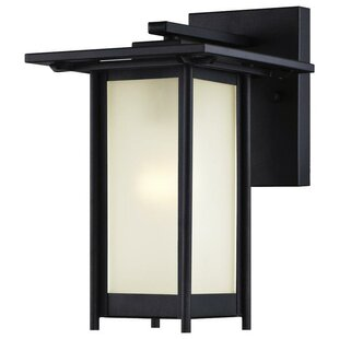 Necaise 1-Light Outdoor Wall Lantern by Breakwater Bay