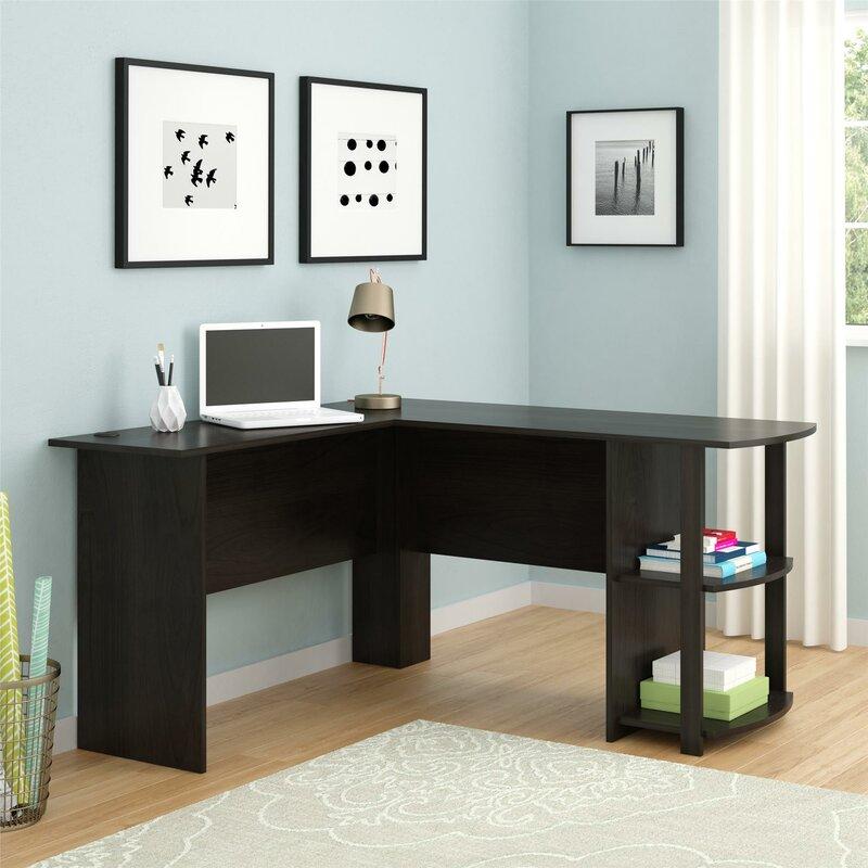L Shaped Desk Images andover mills salina l-shape corner desk & reviews | wayfair