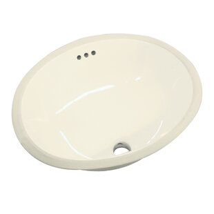Madison Vitreous China Oval Undermount Bathroom Sink with Overflow by Transolid