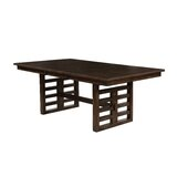 Hendina Extendable Solid Wood Dining Table by World Menagerie