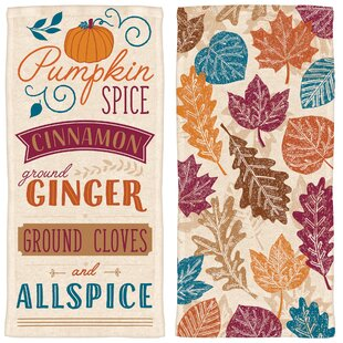 Ordinaire 2 Piece Autumn Pumpkin Spice Towel Set (Set Of 2)